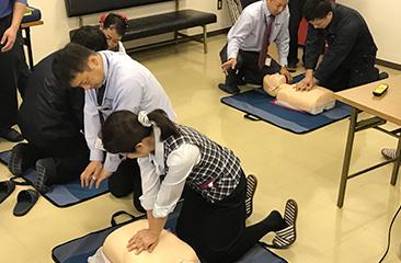 AED使用講座の開催